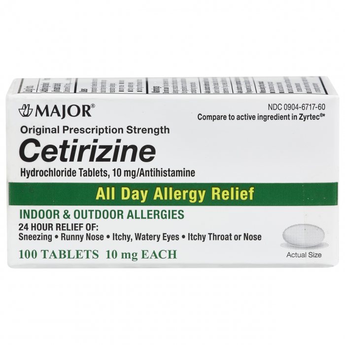 CETIRIZINE HCL 10MG TABS [MAJOR]